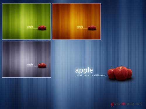 Red Apple DNA Wallpaper Pack