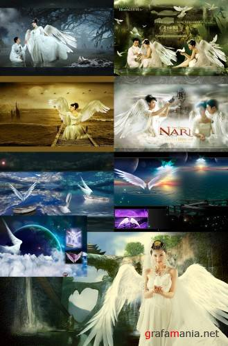Angels Psd templates (2)