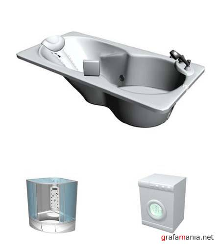 Bathroom Equipment III - 3D Models