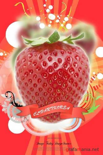 Strawberry PSD Template