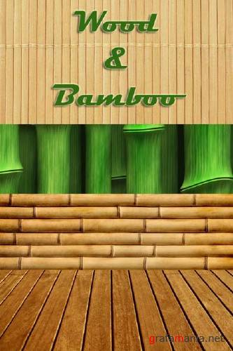Wood & Bamboo - HQ Stock Clipart