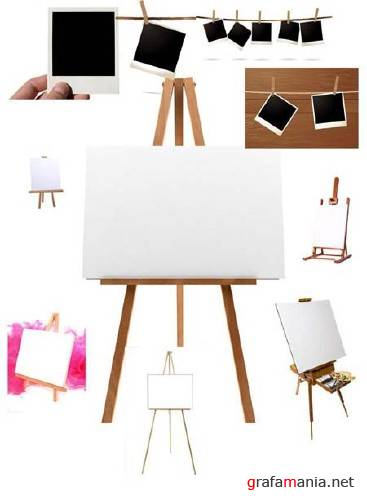 Easels & Photoframes - HQ Stock Clipart