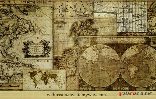 14 High Resolution Assorted Map Brushes
