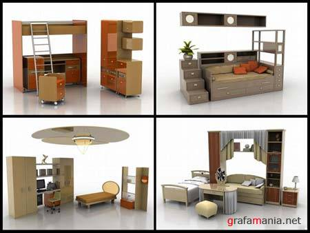 Furniture for Children - 3D Max 2009 Models