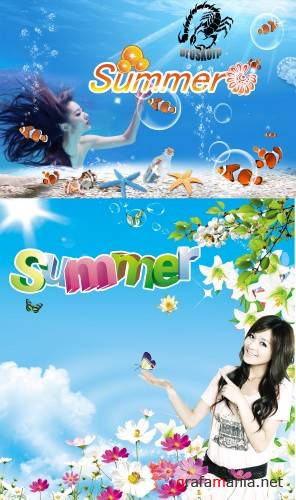 Summer - Psd template