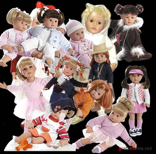 Dolls in psd files