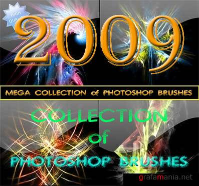 2009 MEGA Collection of PHOTOSHOP Brushes