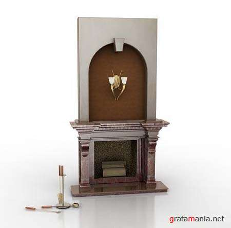 Fireplace 3D Max 2009 Model