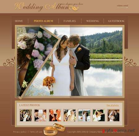 "Flash Template for Website - ""Wedding album"""