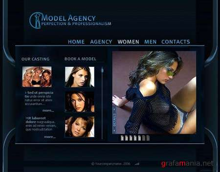 "Flash Template for Website - ""Model Agency"""