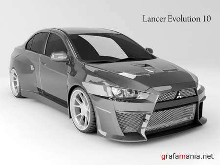 Lancer Evolution 10 3D Max Model