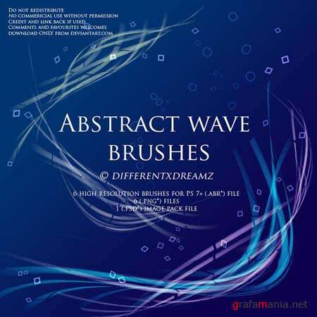 Abstract Wave Photoshop Brushes