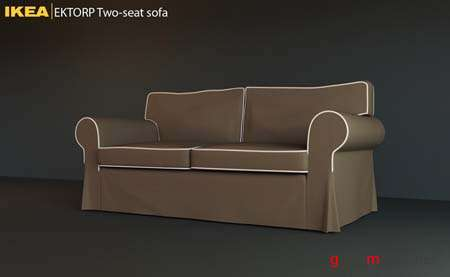 IKEA EKTORP Two-seat Sofa - 3DMax 2009 Model