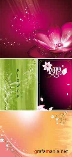 Floral Backgrounds PSD