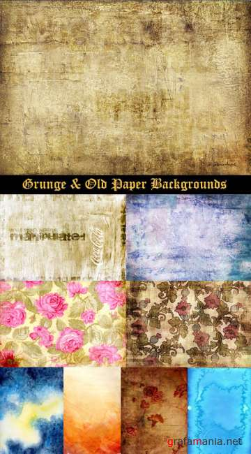 Grunge & Old Paper Backgrounds 80 Textures