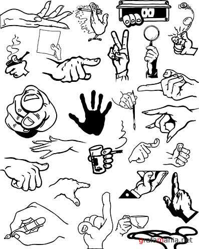 Hands Vector Clipart