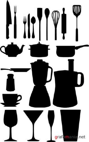 Kitchen Object Silhouettes