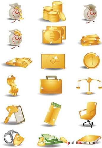 SS Golden Vector Icons