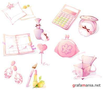 Vector Pink Icon Set