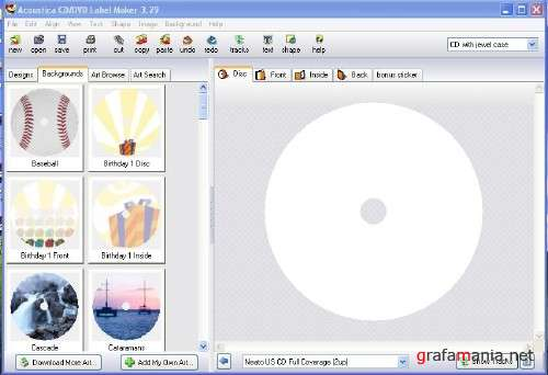 Acoustica CD/DVD Label Maker 3.29 Portable