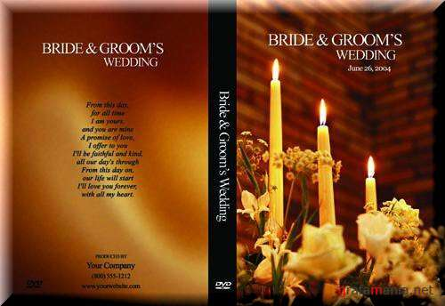 Weddings covers for DVD disk PSD Templates №3