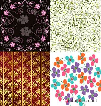 Vector Flower Pattern Collection