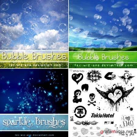 Bubble, Sparkle and others Photoshop Brushes