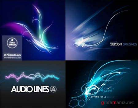 Abstract Curves - Photoshop Brushes Packs