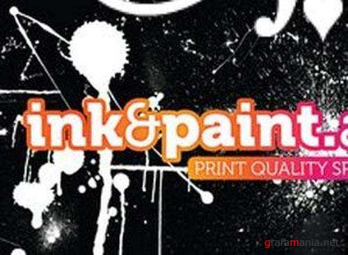 Ink and Paint Photoshop Brushes