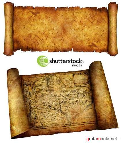Old Scroll and Map