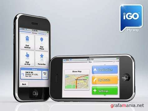 iGO My way 2009  for iPhone / Карты Россия и Украина