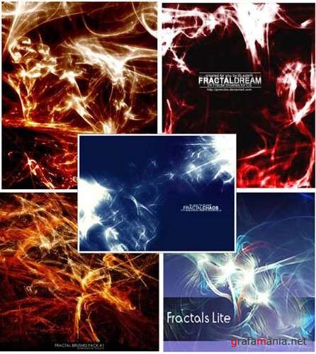 Fractals and Abstract Photoshop Brushes Collection
