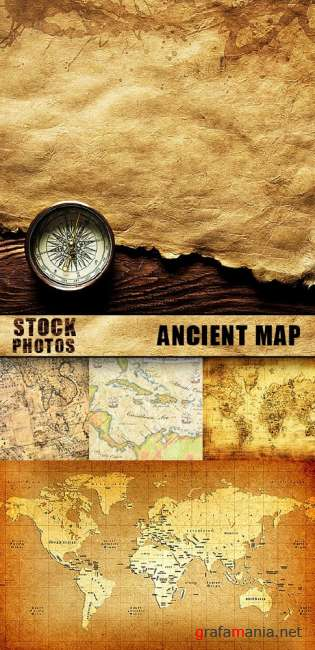 Stock Photo - Ancient map
