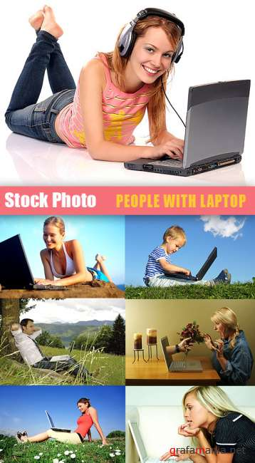 Stock Photos - People with laptop