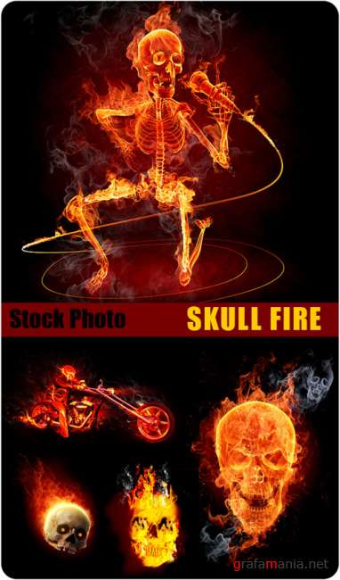 Stock Photo - Skull Fire
