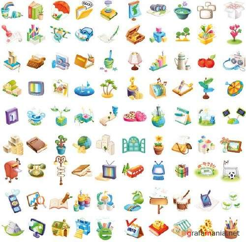 100 Vector Icons