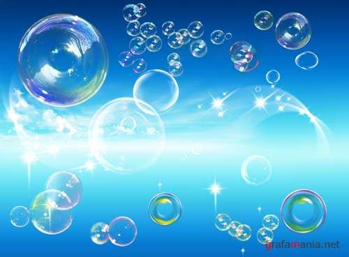 Soap bubbles PSD