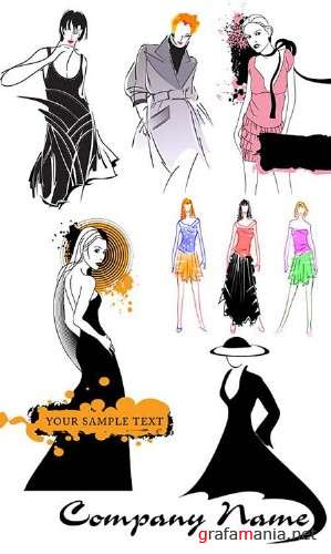 Fashion Girls Vector Collection