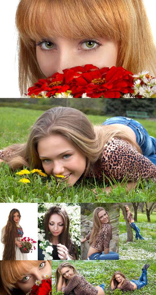 Stock photos - Girls and nature