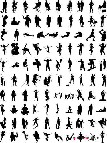 Vector Silhouettes Huge Collection