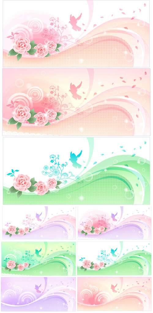 Flower banners 2