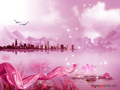 PSD templates - Pink city