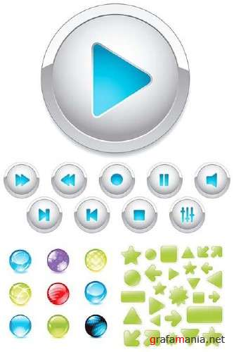 Vector Icons and Buttons