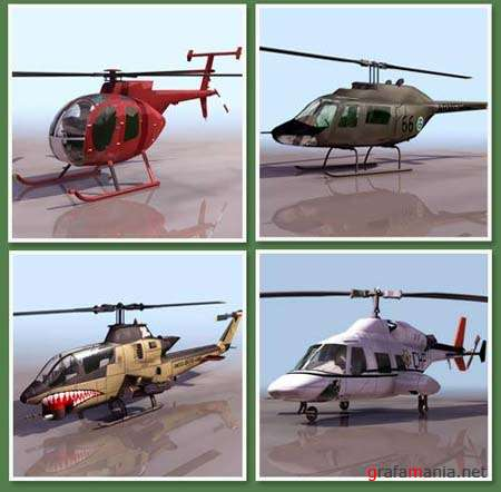 Helicopters 3D Models