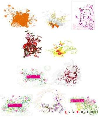 Western-Style: Floral Pattern Vectors