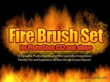 Fire Brush Photoshop Set