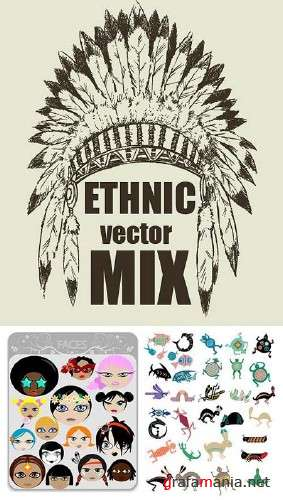 Ethnic Vector Mix