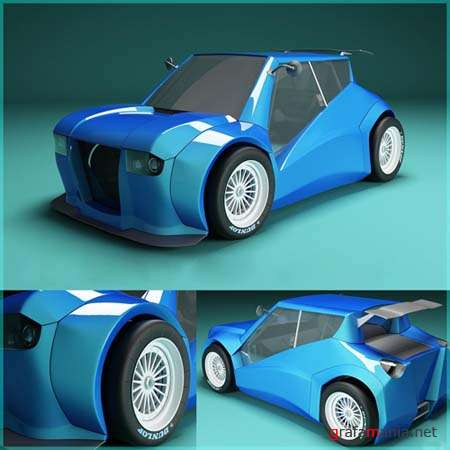 Funny Rally Car - 3D Model