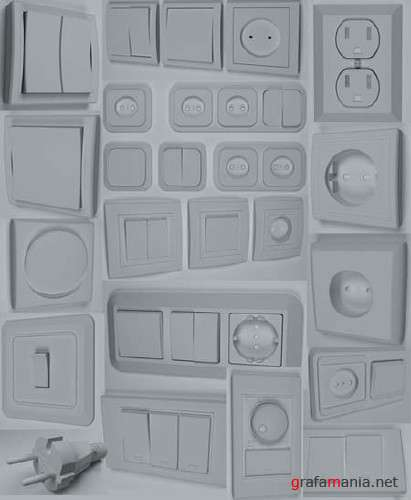 Sockets and Switches 3D Models