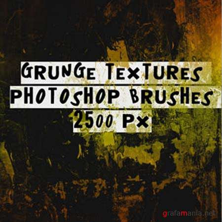 HQ Grunge Textures Photoshop Brushes
